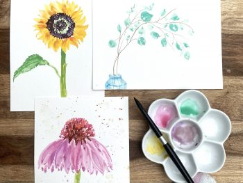 botanical watercolors class